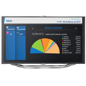 Dos nuevas aplicaciones de BBVA para Samsung Smart TV
