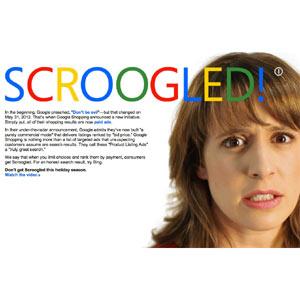 """Google se transforma en """"Scroogle"""" por obra y gracia de Bing"""