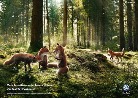 """Volkswagen apuesta por unos animales """"muy hombres"""" en su campaña para el Golf GTI Cabrio"""