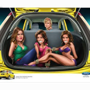 Paris Hilton, Berlusconi y Schumacher protagonizan una campaña de muy mal gusto de Ford India