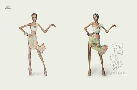 ¿Modelos o figurines? Así planta cara la publicidad a la anorexia