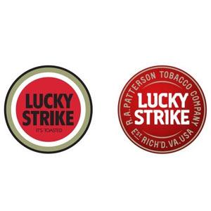 """La marca de cigarrillos Lucky Strike se """"fuma"""" su viejo logotipo y estrena uno nuevo"""