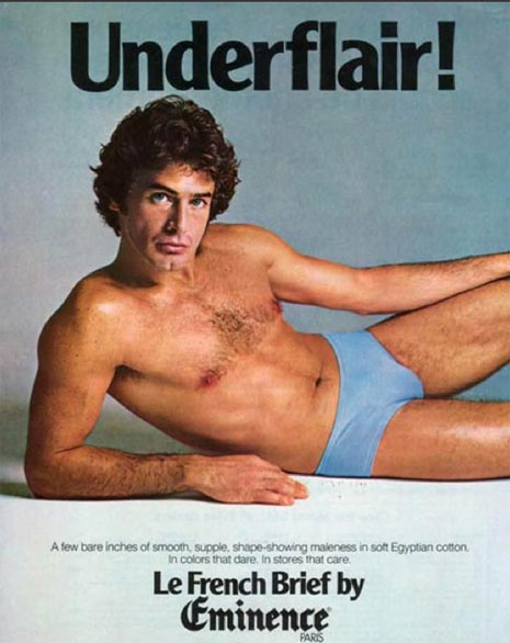 """22 anuncios vintage de ropa interior para hombres """"de pelo en pecho"""""""
