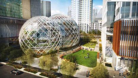 """Amazon se sube al carro de Google con su oficina """"sostenible y divertida"""""""