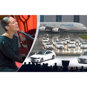 Mercedes se viste de gala para presentar su Clase S: una orquesta, Alicia Keys y hasta un Airbus
