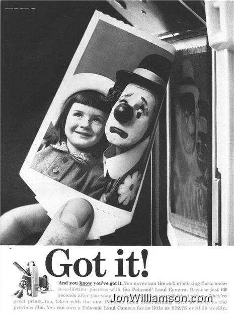 11 anuncios vintage arruinados por payasos muy siniestros