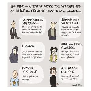 Dime cómo vistes y te diré qué tipo de director creativo eres