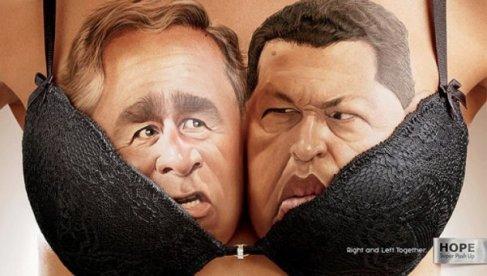 Una campaña de sujetadores vuelve a unir a algunos de los enemigos políticos irreconciliables más conocidos