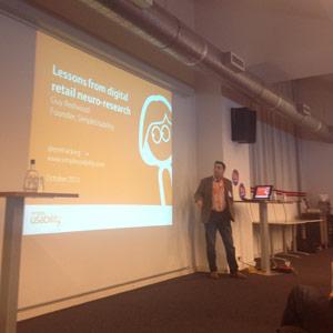 G. Redwood (SimpleUsability) en #neurrro: Qué hacer y qué evitar en el proceso de conversión para la compra online