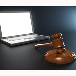 IT and legal issues concept