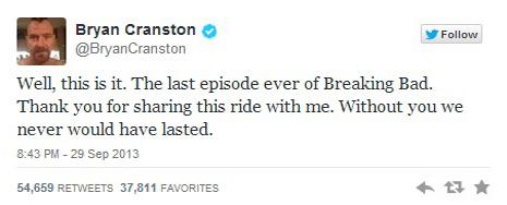 El final de 'Breaking Bad' no tuvo el impacto esperado en Facebook y Twitter