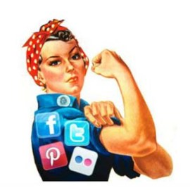 mujer redes sociales