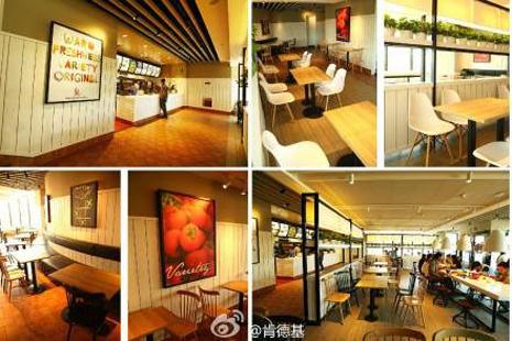 KFC redisea sus restaurantes en China y los convierte en