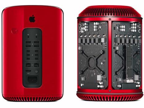apple mac rojo