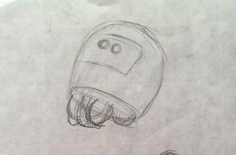 robot boceto 465