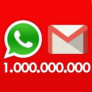 whatsapp y gmail