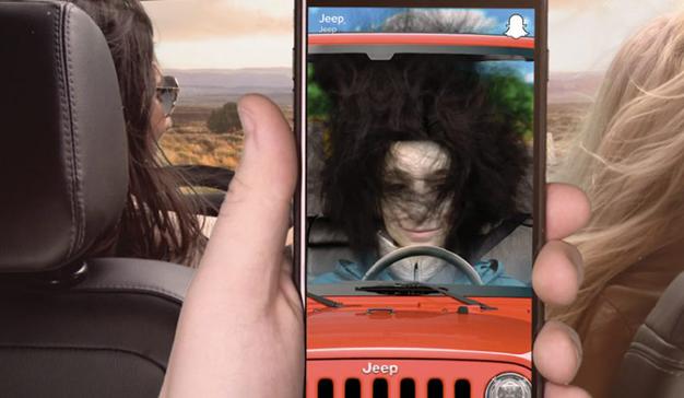 Jeep lanza nuevos filtros de Snapchat con los que los usuarios podrán desmelenarse