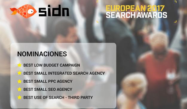 La agencia de marketing digital SIDN consigue 5 nominaciones en los European Search Awards 2017