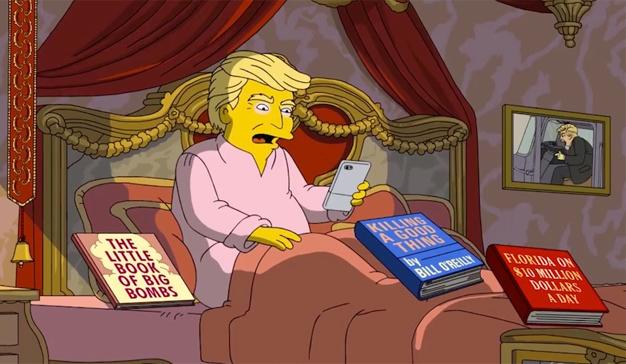 """Los Simpson se pitorrean de Trump y sus 100 días en la Casa Blanca con una """"mortífera"""" parodia"""
