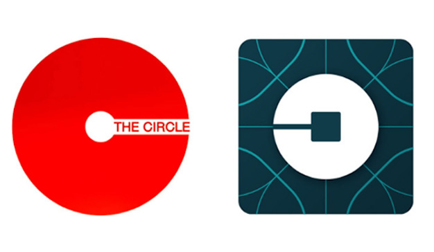 """Parecido sospechoso entre los logos de Uber y el de la película """"The Circle"""""""