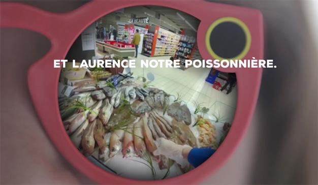 Este supermercado francés se compincha con Snapchat para demostrar la frescura de su pescado