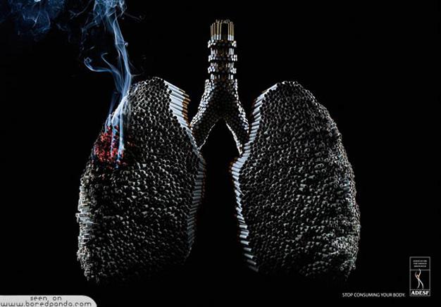 15 campañas que le harán pensar si enciende o no su próximo cigarrillo