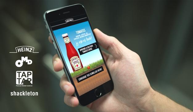 """Heinz nos """"lleva a la huerta"""", y OMD y TAPTAP la meten en el móvil"""