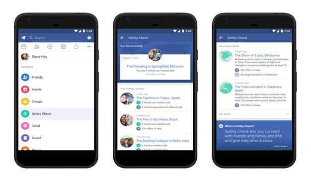 """Facebook incorpora la herramienta """"Safety Check"""" en su menú"""