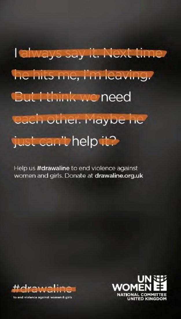 """UN Women """"dibuja una línea"""" contra la violencia femenina en su nueva campaña"""