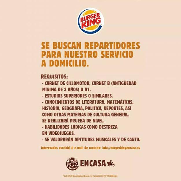 Cuando la publicidad se disfraza de todo menos de anuncio: la creatividad de Burger King