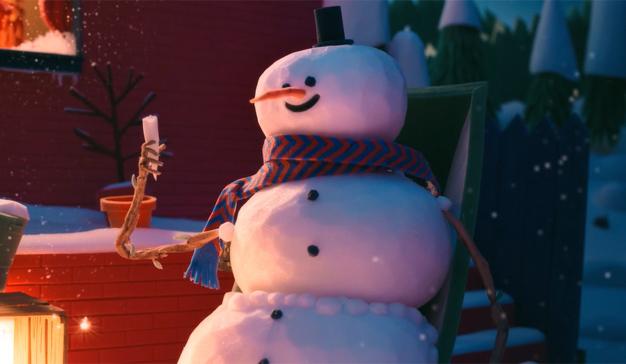 Un muñeco de nieve celebra (como puede) la Navidad en este encantador spot animado