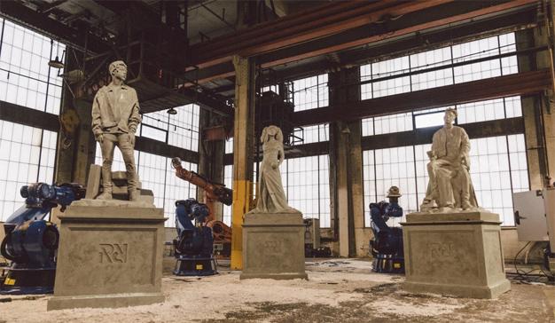 """Spotify inmortaliza a tres """"hip hoperos"""" en esculturas al más puro estilo grecorromano"""