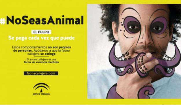 """""""No seas animal"""", la campaña de la Junta de Andalucía contra el acoso callejero"""
