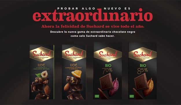 Suchard se estrena en el mercado del chocolate negro con nuevos productos, una pop up y una gran campaña