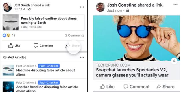 """Facebook """"minimiza"""" las fake news para combatir la desinformación"""
