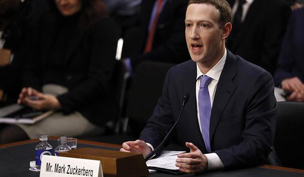 Las acciones de Facebook suben un 4,5% tras la comparecencia de Zuckerberg en el Senado