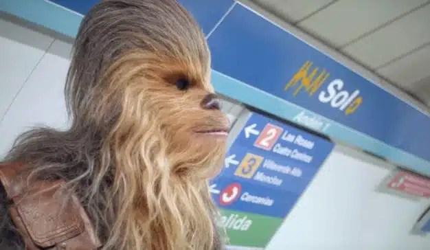 La madrileña estación de Sol será hasta el 1 de junio la estación Han Solo