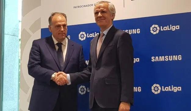 Samsung lleva a LaLiga su tecnología más puntera con la renovación de su acuerdo