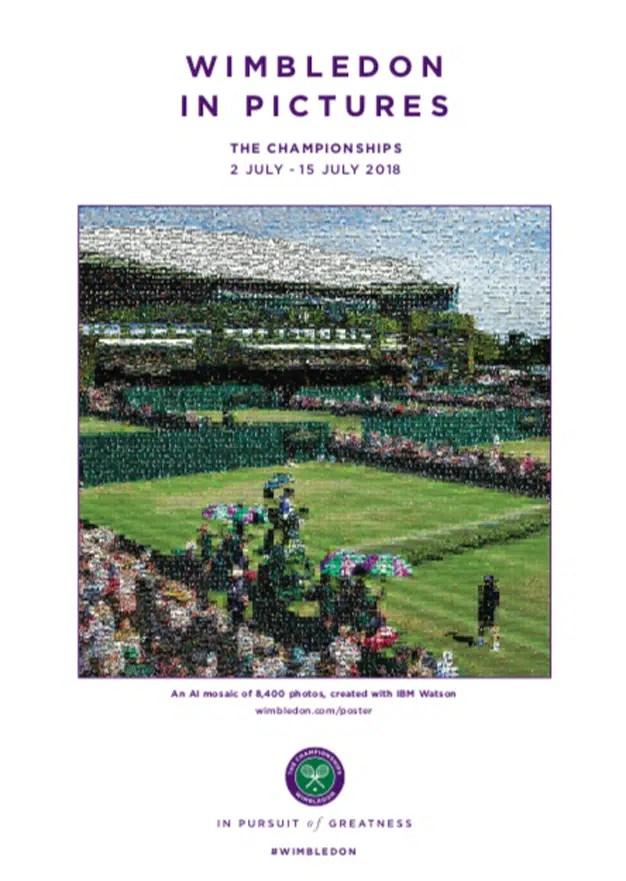 Watson, la IA de IBM, se convierte en director creativo de este cartel de Wimbledon
