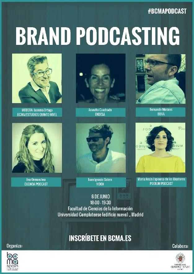 BCMA organiza una mesa de debate con expertos sobre Brand Podcasting