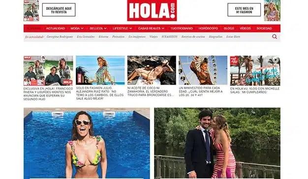 La revista Hola alcanza los 10 millones de usuarios únicos en España según comScore