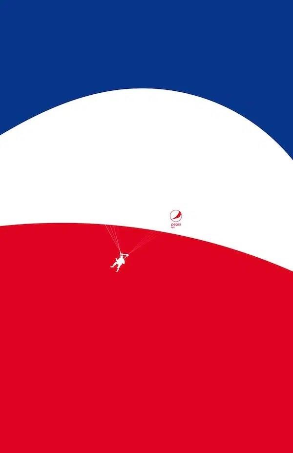 Pepsi reimagina su logo para dar forma a estilosos y garbosos anuncios