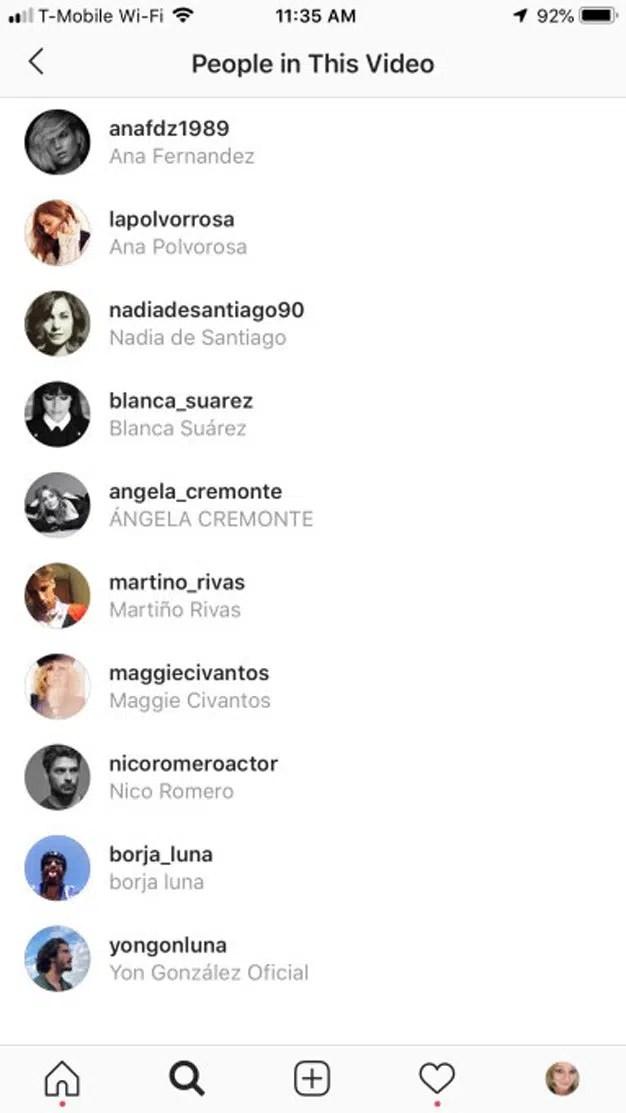 Instagram añadirá la función de etiquetar en vídeos a sus amigos en su nueva actualización