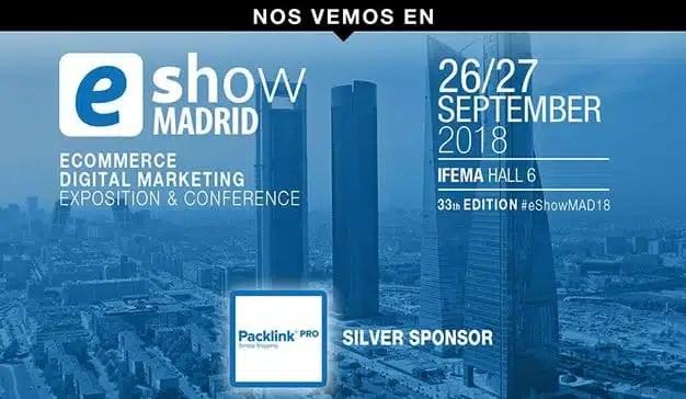 Packlink participará en eShow Madrid 2018