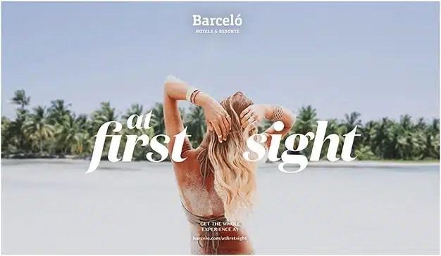 September presenta At First Sight, la nueva campaña para Barceló Hotel Group