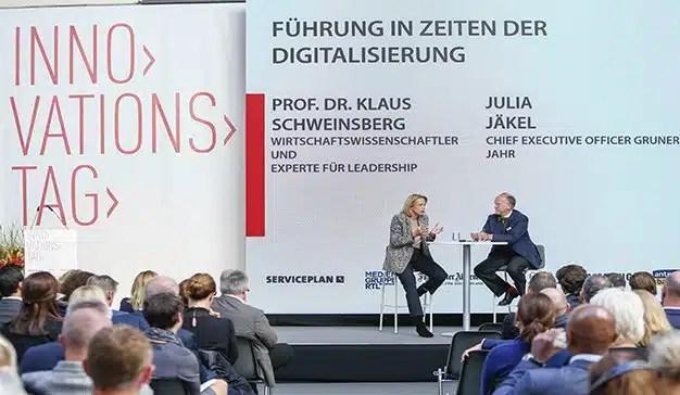 El ex ministro alemán de Asuntos Exteriores, Sigmar Gabriel, pronuncia un discurso de apertura sobre el camino de Europa hacia un futuro digital en Serviceplan