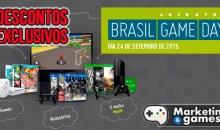 """Confira os principais descontos do """"Brasil Game Day""""! Games, consoles e acessórios com preços imperdíveis!"""