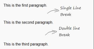 How to add a line break in wordpress manually or via plugins
