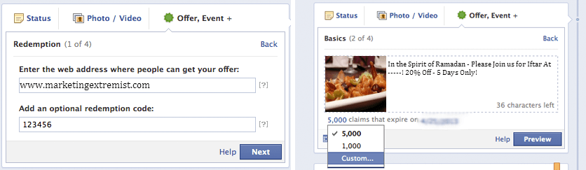 Creative Facebook Advertisement Captions for Offers