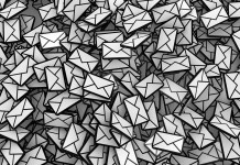 bulk of email newsletter in black and white